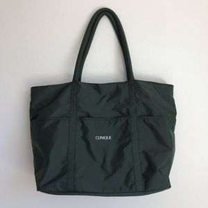 SALE Clinique Large Tote Bag Forest Green